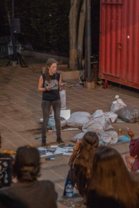 Boca de cenizas de Julie Pichavant X Encuentro de Performance para la vida Maria Teresa Hincapié - Armenia -Colombia