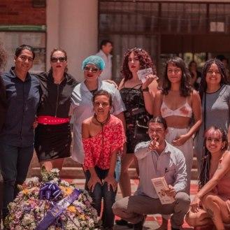 Julie Pichavant Santiago Zuluaga Performance Puta zona X Encuentro de Performance para la vida Maria Teresa Hincapié